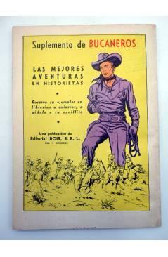 Contracubierta de BUCANEROS EL GIGANTE DE LAS HISTORIETAS 158 (Vvaa) Bois 1960