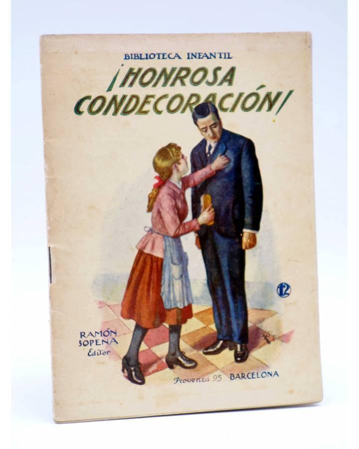 Cubierta de BIBLIOTECA INFANTIL 12. HONROSA CONDECORACIÓN (No Acreditado) Ramón Sopena s/f