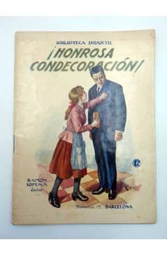 Contracubierta de BIBLIOTECA INFANTIL 12. HONROSA CONDECORACIÓN (No Acreditado) Ramón Sopena s/f
