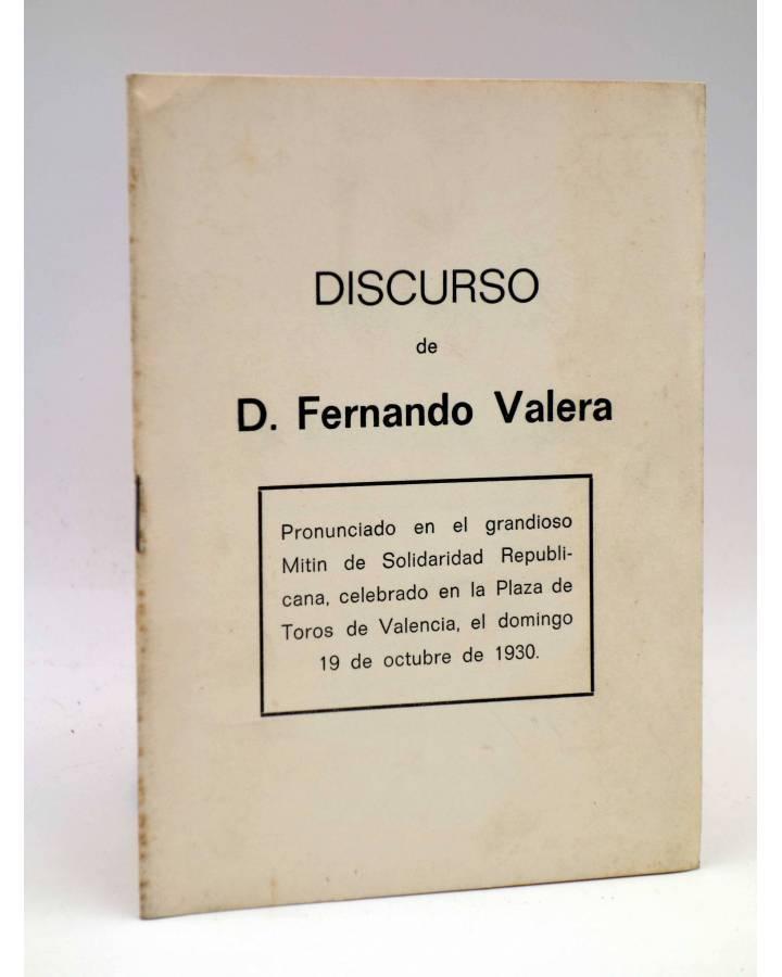 Cubierta de DISCURSO DE D. FERNANDO VALERA. MITIN DE SOLIDARIDAD REPUBLICANA 1930 (Fernando Valera) Serna 1978