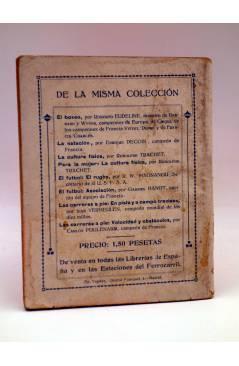 Contracubierta de LAS CARRERAS A PIE EN PISTA Y A CAMPO TRAVIESA (Juan Vermeulen) Españolas s/f