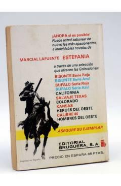 Contracubierta de PUNTO ROJO 918. NEGRA MADRUGADA (Curtis Garland) Bruguera 1979