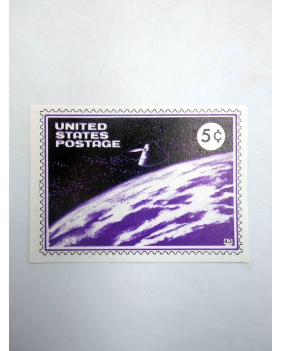 Cubierta de LA GRAN PROEZA CROMO 43. UNITED STATES POSTAGE (No Acreditado) Pipas Churruca 1969