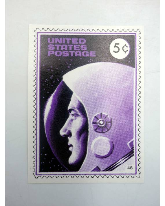 Cubierta de LA GRAN PROEZA CROMO 46. UNITED STATES POSTAGE (No Acreditado) Pipas Churruca 1969
