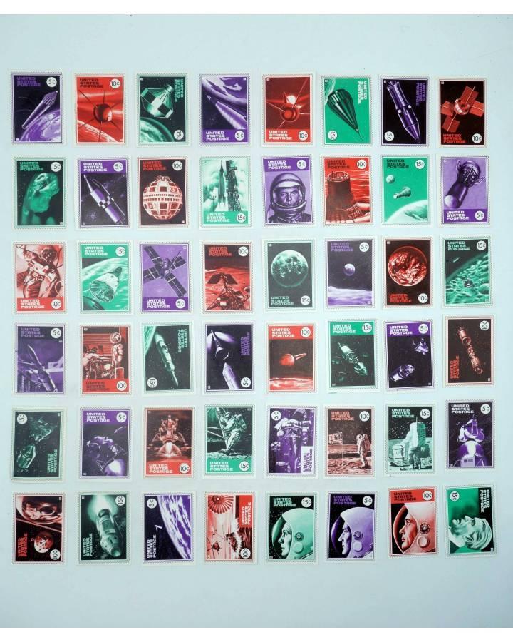 Cubierta de LA GRAN PROEZA CROMOS 1 A 48. COLECCIÓN COMPLETA UNITED STATES POSTAGE (No Acreditado) Pipas Churruca 1969