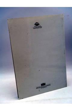 Contracubierta de CATÁLOGO EXPOSICIÓN. QUIJANO IBERIA II TIEMPO DE ESPAÑA. 2000. CON DIBUJO DEL AUTOR (Quijano) 2000