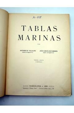 Muestra 1 de TABLAS MARINAS (Antonio M.ª Villalón / José García De Paredes) Fidel Giró 1933