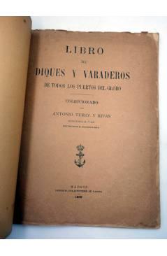 Muestra 2 de LIBRO DE DIQUES Y VARADEROS DE TODOS LOS PUERTOS DEL GLOBO (Antonio Terry Y Rivas) Ministerio de Marina 189