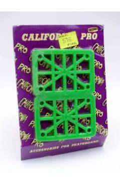 Cubierta de ELEVADORES O RISERS VERDES PARA MONOPATÍN. EN BLISTER (No Acreditado) California Pro 1990
