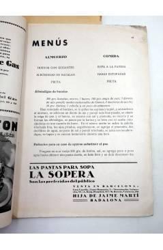 Contracubierta de MENAGE REVISTA DE COCINA 73. 2ª ÉPOCA. AÑO VII. GUERRA CIVIL (Vvaa) Revista Menage 1937
