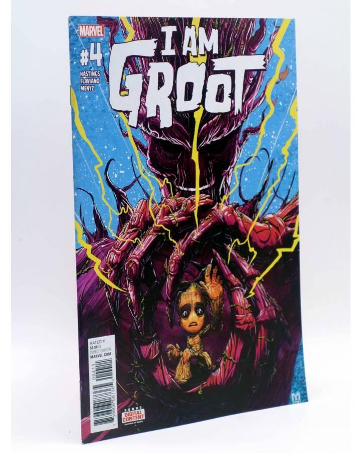 Cubierta de I AM GROOT 4 (Hastings / Flaviano / Menyz) Marvel 2017. VF