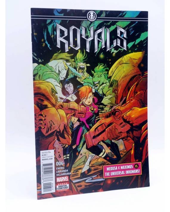 Cubierta de ROYALS 6. MEDUSA & MAXIMUS VS THE UNIVERSAL INHUMANS (Ewing / Libranda) Marvel 2017. VF