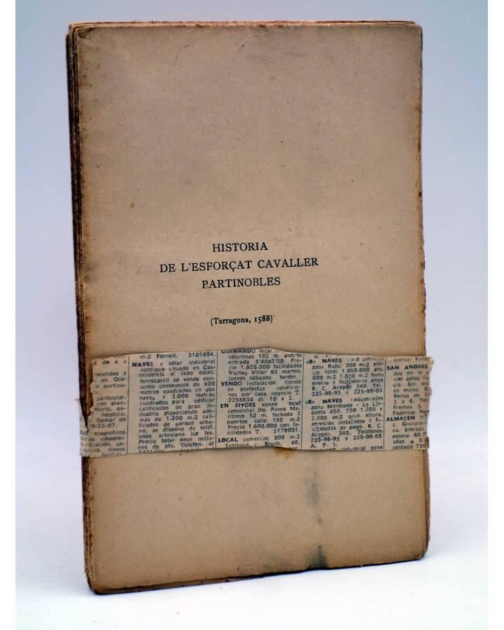 Cubierta de HISTORIA DE L'ESFORÇAT CAVALLER PARTINOBLES.. Barcelona s/f. SIN ENCUADERNAR Y SIN CUBIERTAS