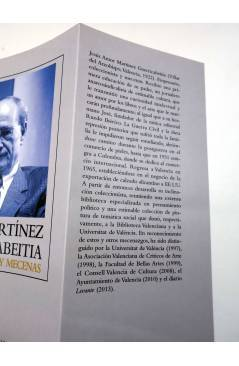 Contracubierta de JESÚS MARTÍNEZ GUERRICABEITIA. COLECCIONISTA Y MECENAS (José Martín Martínez) UV 2013