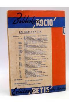 Contracubierta de BIBLIOTECA ROCÍO 57 LVII. EL ÁNGEL DE LOS OJOS VERDES (Gustavo Del Barco) Betis Circa 1940