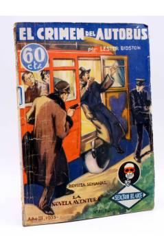 Cubierta de LA NOVELA AVENTURA AÑO III Nº 81. SEXTON BLAKE. EL CRIMEN DEL AUTOBÚS (Lester Bidston) S.G. Publicaciones 19