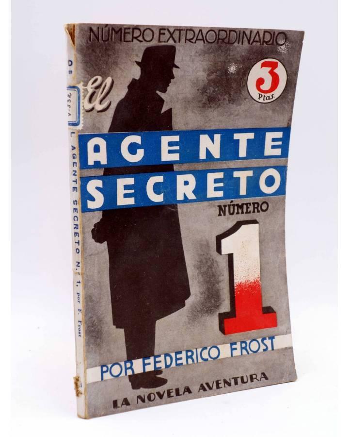 Cubierta de LA NOVELA AVENTURA Nº EXTRAORDINARIO 189. EL AGENTE SECRETO NÚMERO 1 (Federico Frost) Hymsa 1940