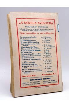 Contracubierta de LA NOVELA AVENTURA Nº EXTRAORDINARIO 189. EL AGENTE SECRETO NÚMERO 1 (Federico Frost) Hymsa 1940