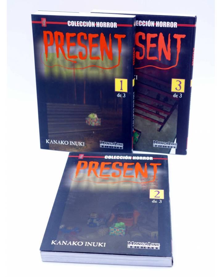 Cubierta de COLECCIÓN HORROR. PRESENT 1 2 Y 3. COMPLETA (Kanako Inuki) Mangaline 2004