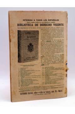 Contracubierta de LA NOVELA DE AHORA 3ª EPOCA AÑO IV 74. EN LAS FRONTERAS DEL FAR WEST (E. Salgari) Calleja 1910