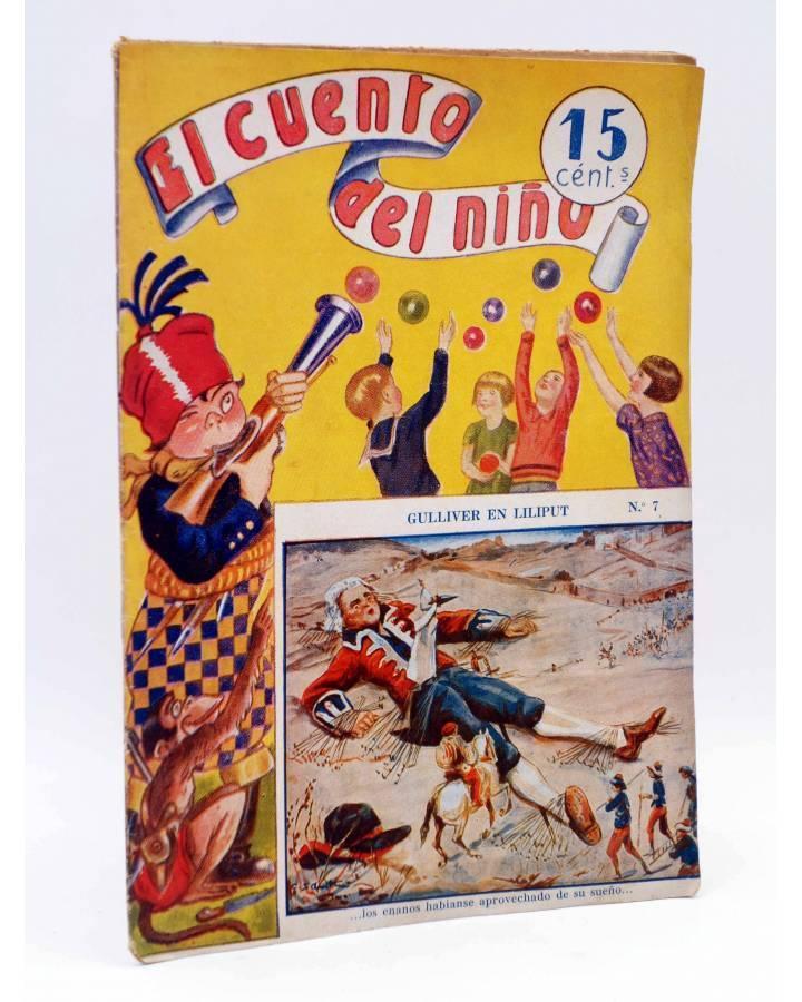Cubierta de EL CUENTO DEL NIÑO 7. GULLIVER EN LILIPUT. Barcelona Circa 1930