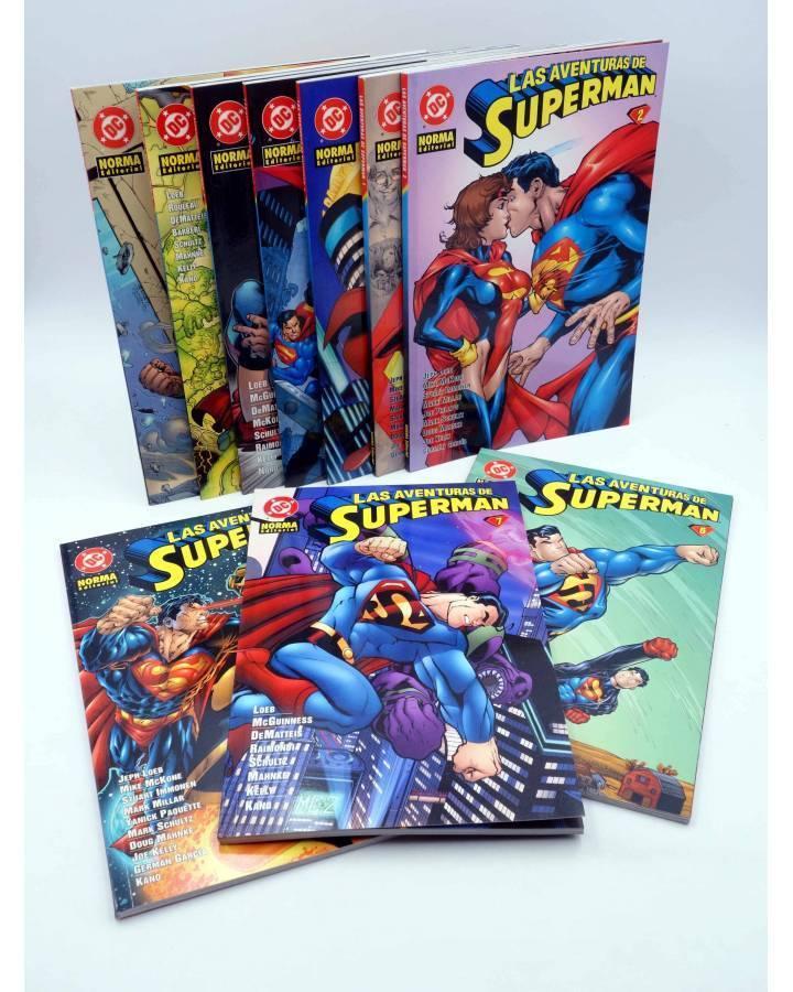 Cubierta de LAS AVENTURAS DE SUPERMAN 1 A 10. COMPLETA (Vvaa) Norma 1995