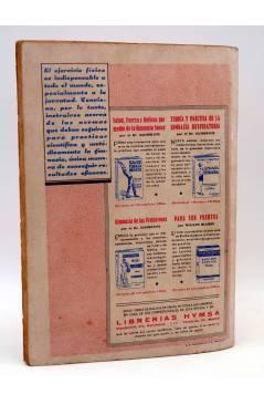 Contracubierta de LA NOVELA AVENTURA 80. EL FANTASMA DEL MEDIODÍA (Noel Vindry) Hymsa 1935