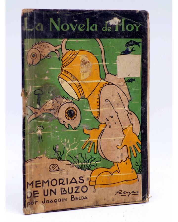 Cubierta de LA NOVELA DE HOY 45. MEMORIAS DE UN BUZO (Joaquín Belda / Reyes) Atlántida 1923