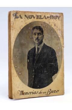 Contracubierta de LA NOVELA DE HOY 45. MEMORIAS DE UN BUZO (Joaquín Belda / Reyes) Atlántida 1923