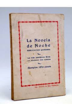 Contracubierta de LA NOVELA DE HOY 194. LA VIDA (Vicente Díez De Tejada / Quintanilla) Atlántida 1926