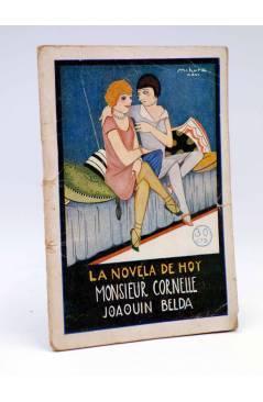 Cubierta de LA NOVELA DE HOY 233. MONSIEUR CORNELLE (Joaquín Belda / Mihura) Atlántida 1926