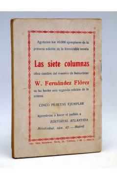 Contracubierta de LA NOVELA DE HOY 233. MONSIEUR CORNELLE (Joaquín Belda / Mihura) Atlántida 1926