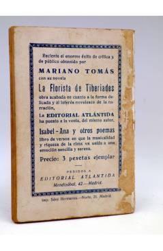 Contracubierta de LA NOVELA DE HOY 264. EL VIEJECITO DE LA PALOMA (Antonio Casero / A Casero Hijo) Atlántida 1927