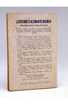 Contracubierta de LA NOVELA DE HOY 296. LAS FURIAS CAUTIVAS (Luís Araquistain / Ferxama) Atlántida 1928