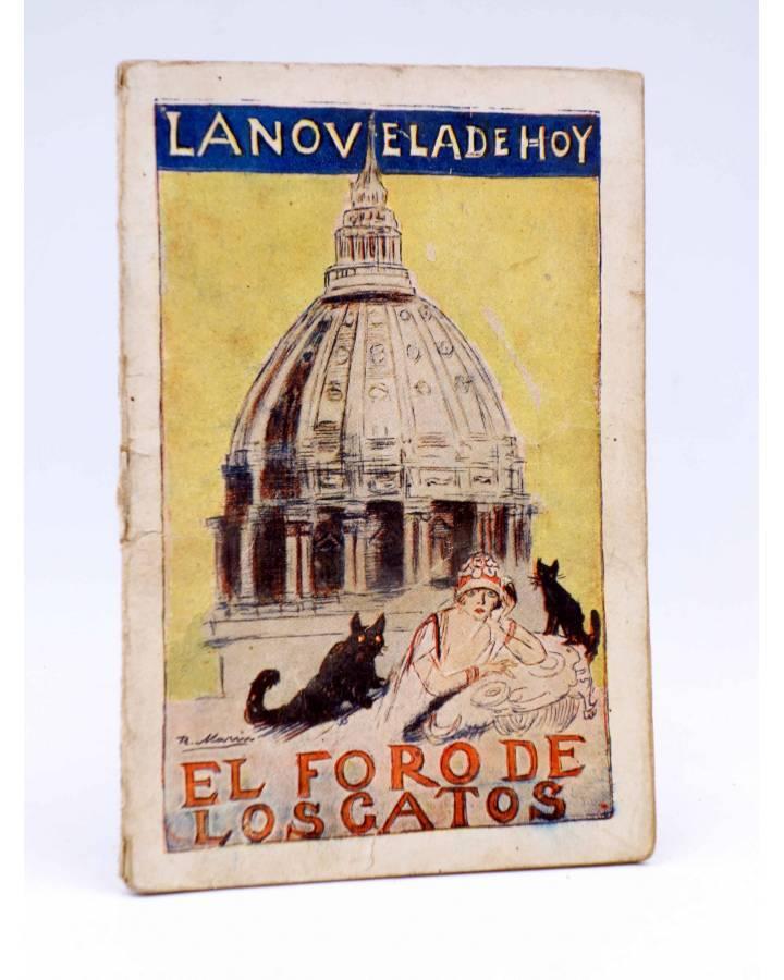 Cubierta de LA NOVELA DE HOY 336. EL FORO DE LOS GATOS (Joaquín Belda / Marín) Atlántida 1928