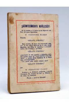 Contracubierta de LA NOVELA DE HOY 336. EL FORO DE LOS GATOS (Joaquín Belda / Marín) Atlántida 1928