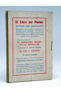 Contracubierta de LA NOVELA DE HOY 394. LAS VELADAS DE LA SEÑÁ ISIDRA (Pilar Millán Astray / Esteban) Atlántida 1929