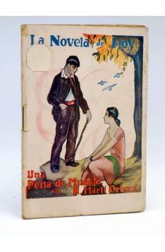 Cubierta de LA NOVELA DE HOY 439. UNA PENA DE MUERTE (R. Martí Orberá / Pomareda) Atlántida 1930