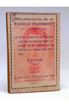 Contracubierta de LA NOVELA DE HOY 463. EL DUEÑO DE UNA VIDA (Diego San José / Izquierdo Durán) Atlántida 1931