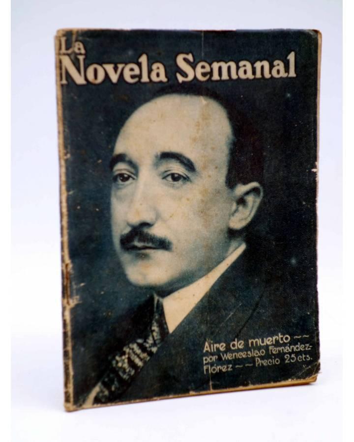 Cubierta de LA NOVELA SEMANAL 9. AIRE DE MUERTO (W. Fernández Flórez / Sirio) Prensa Gráfica 1921
