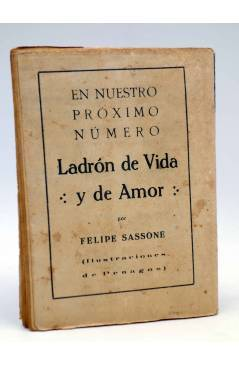 Contracubierta de LA NOVELA SEMANAL 9. AIRE DE MUERTO (W. Fernández Flórez / Sirio) Prensa Gráfica 1921