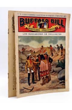 Cubierta de BUFFALO BILL. AVENTURA EMOCIONANTES 49. LOS BUSCADORES DE BRILLANTES. Sopena Circa 1900