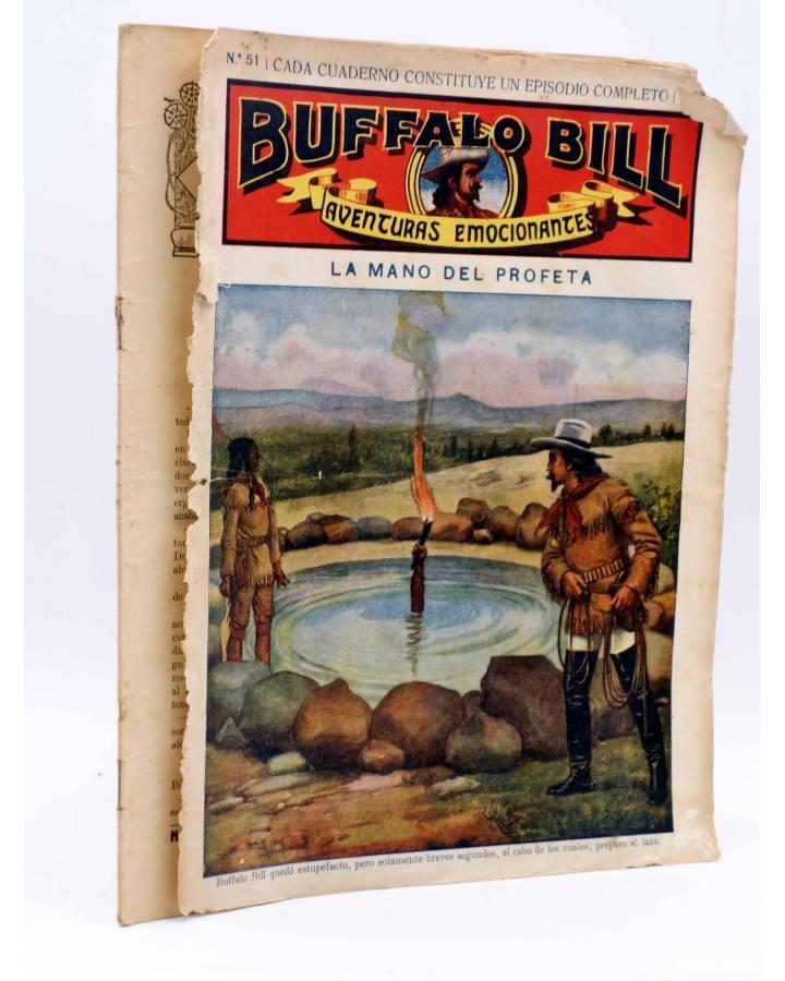 Cubierta de BUFFALO BILL. AVENTURA EMOCIONANTES 51. LA MANO DEL PROFETA. Sopena Circa 1900