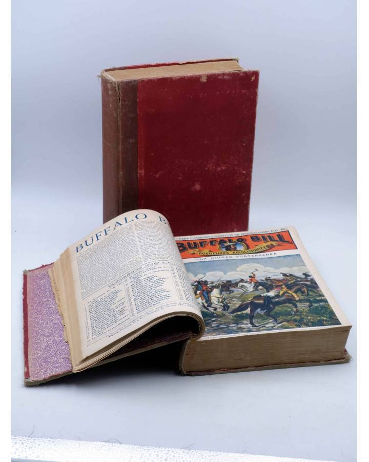 Cubierta de BUFFALO BILL. AVENTURA EMOCIONANTES 1 A 60. COMPLETA EN DOS TOMOS. Sopena Circa 1900