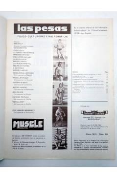 Muestra 1 de REVISTA LAS PESAS FISICO CULTURISMO Y HALTEROFILIA 125. AHMET ENULU (Vvaa) Alas 1974