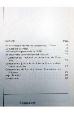 Muestra 2 de REVISTA LAS PESAS FISICO CULTURISMO Y HALTEROFILIA 125. AHMET ENULU (Vvaa) Alas 1974