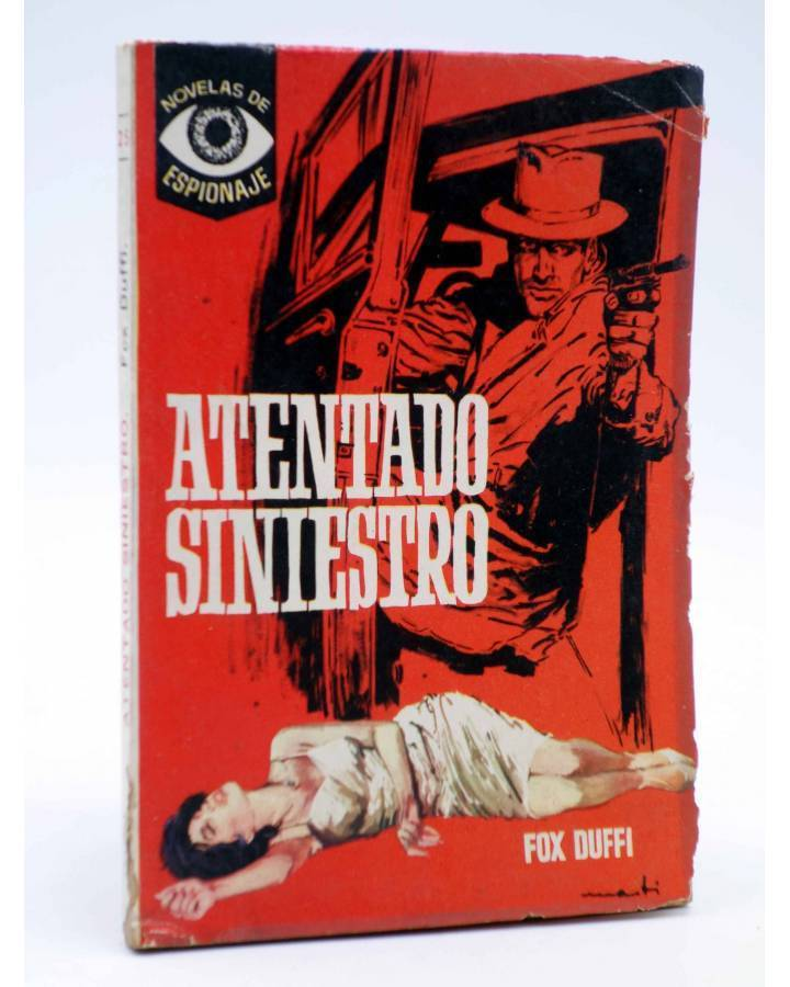 Cubierta de NOVELAS DE ESPIONAJE 25. ATENTADO SINIESTRO (Fox Duffi) Tesoro 1964