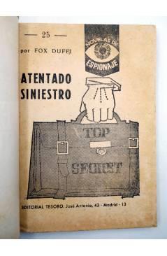 Muestra 1 de NOVELAS DE ESPIONAJE 25. ATENTADO SINIESTRO (Fox Duffi) Tesoro 1964