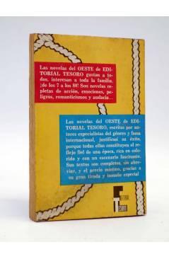 Contracubierta de NOVELAS DEL OESTE 59. LIBERTAD PARA MATAR (Sidney Cox) Tesoro 1964