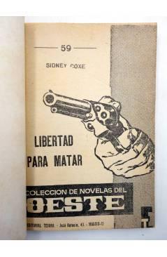 Muestra 1 de NOVELAS DEL OESTE 59. LIBERTAD PARA MATAR (Sidney Cox) Tesoro 1964